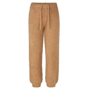 Camel Cozy Knit Jogger